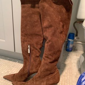 Cesare Paciotti Brown Suede Boots